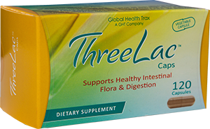 Global Health Trax Inc. Threelac Caps Probiotic Capsules 120ct