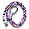 Image of Natural Purple Jasper Lotus Mala