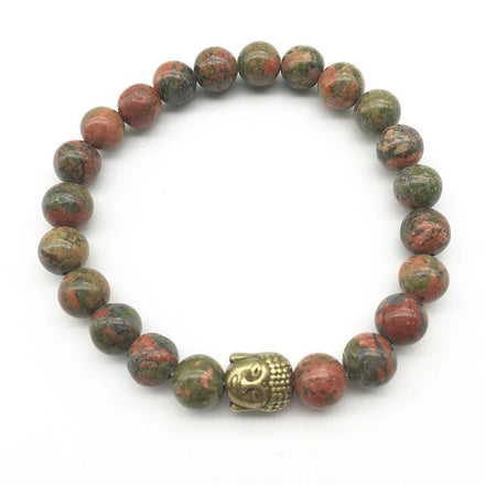 Bracelet Natural Unakite Bracelet Set bead amethyst Third Eye Transcend amazonite mala meditation stone crysal reiki crystal healing bracelet necklace yoga bracelet yoga beads