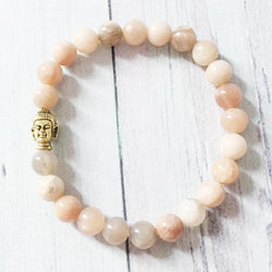 Jewelry Natural Sunstone Buddha Bracelet Third Eye Transcend
