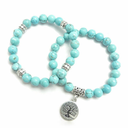 Jewelry Turquoise Tree of Life Bracelets bead amethyst Third Eye Transcend amazonite mala meditation stone crysal reiki crystal healing bracelet necklace yoga bracelet yoga beads