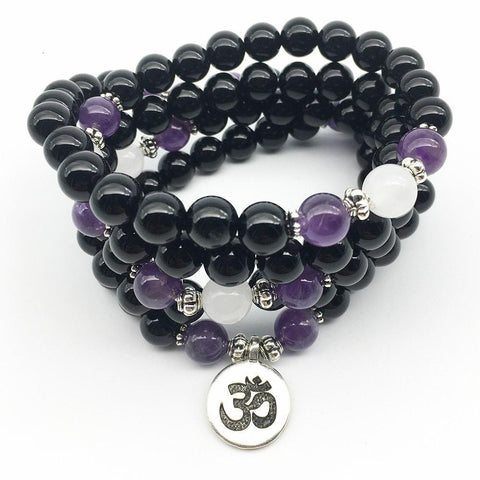 Mala Black Onyx Strength Bundle Third Eye Transcend