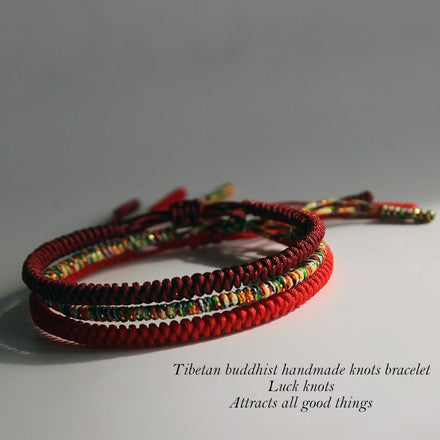 Buddhist Hand Knotted Good Luck Bracelet
