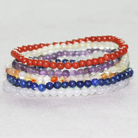 Mala Bracelet Chakra Natural Mini Bracelet Set Third Eye Transcend