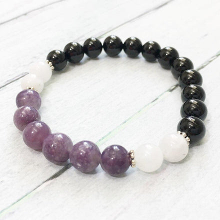 Mala Bracelet Intuition Natural Stone Bracelet Third Eye Transcend