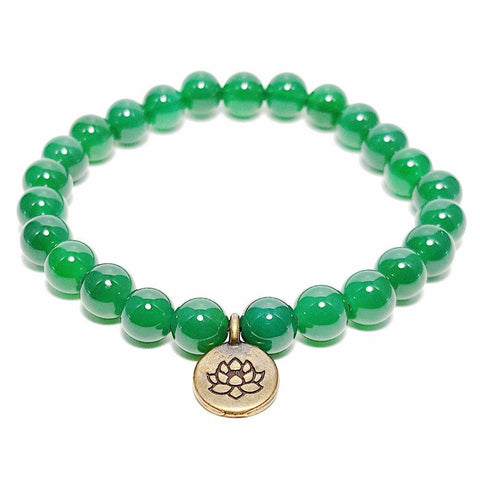 Mala Bracelet Natural Green Jade Lotus Bracelet bead amethyst Third Eye Transcend amazonite mala meditation stone crysal reiki crystal healing bracelet necklace yoga bracelet yoga beads