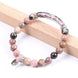 Image of Mala Bracelet Natural Rhodonite Bracelet Third Eye Transcend