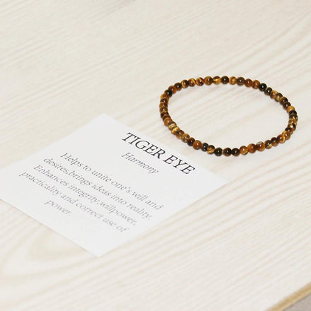 Mala Bracelet Natural Tiger Eye Mini Bracelet Third Eye Transcend