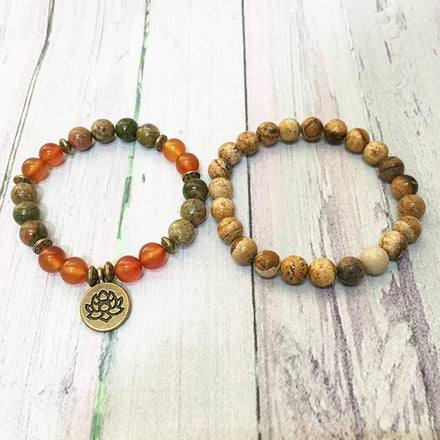 Mala Bracelet Positive Transformation Bracelet Set Third Eye Transcend