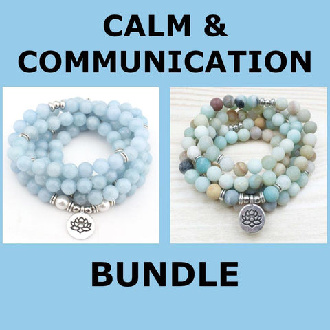 Mala Calm and Communication Bundle Third Eye Transcend