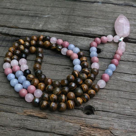Mala Confidence Natural Stone Mala Third Eye Transcend