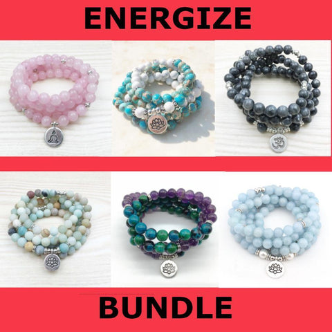 Mala Energize Bundle Third Eye Transcend