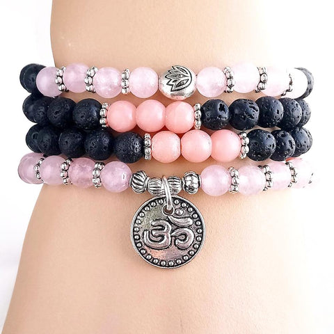Mala Radiance Natural Stone Mala bead amethyst Third Eye Transcend amazonite mala meditation stone crysal reiki crystal healing bracelet necklace yoga bracelet yoga beads