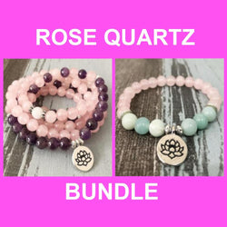 Rose Quartz Heart Bundle