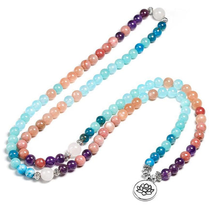 Mala Serenity Natural Lotus Mala Third Eye Transcend