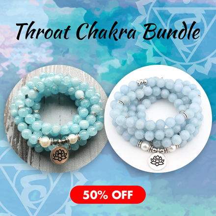 Mala Throat Chakra Bundle Third Eye Transcend