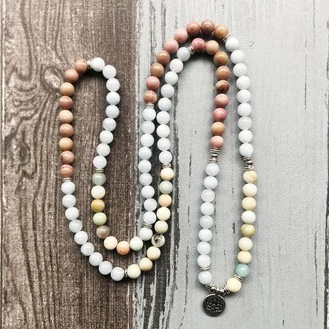 Mala Tranquility Natural Lotus Mala Third Eye Transcend
