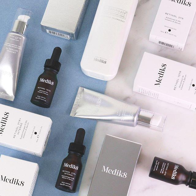 medik8 retinol and vitamin a products
