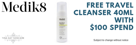 free medik8 travel cleanser red alert