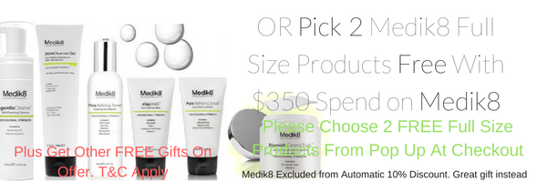 medik8 online at Tina Kay Skincare. Free medik8 products with purchase