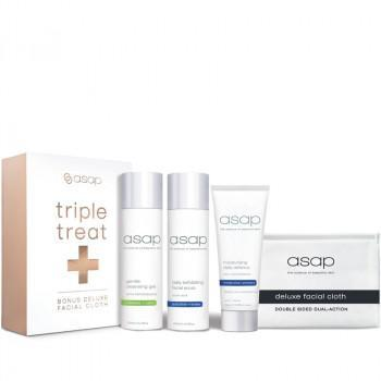 asap skincare kit ASAP Triple Treat Plus Deluxe Facial Cloth