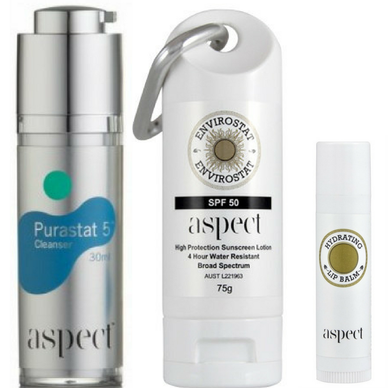 aspect Aspect Cleanse, Hydrate And Protect Summer Kit