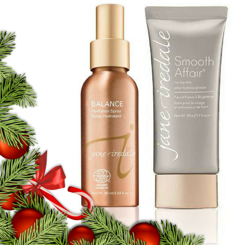 christmas early birds oily Prep & Finish For Oily Skin Christmas Pack - Jane Iredale Primer And Hydrating Finishing Spray