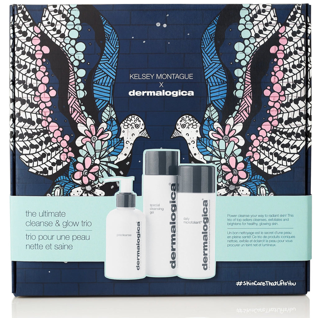 Dermalogica kits and packs Dermalogica x Kelsey Montague The Ultimate Cleanse And Glow Trio
