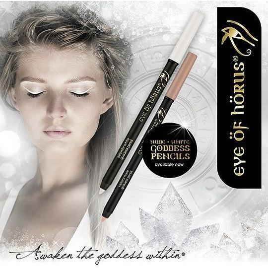 eye of horus Eyeliner Eye Of Horus Goddess Pencils Duo Kit - Selenite White + Sahara Nude
