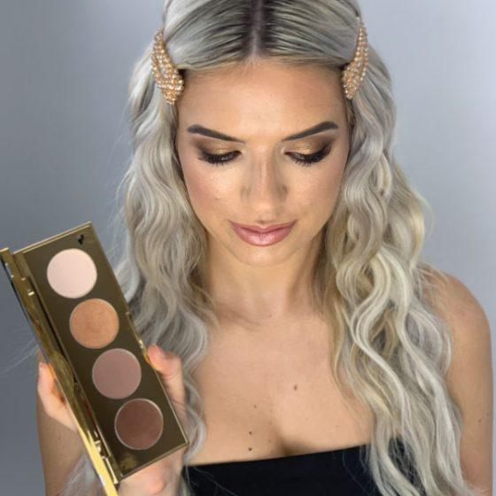 Tina Kay Skincare Silk Bronzed Goddess Universal Eye Highlight & Bronze Palette
