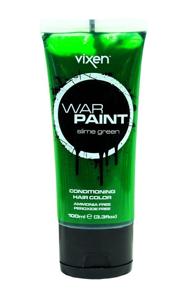 Vixen hair colour slime green Vixen War Paint Conditioning Hair Colour
