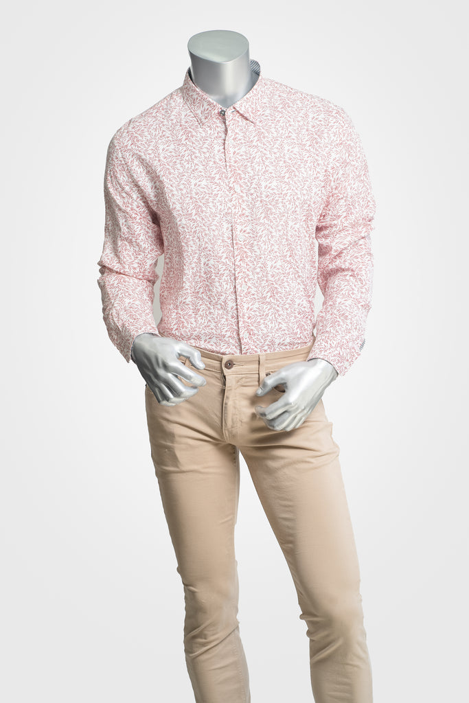 Culturata Pink Paisley Button Down
