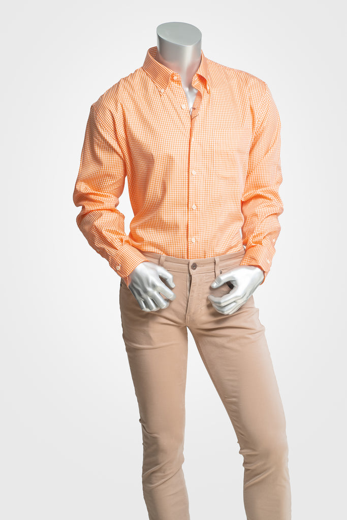 Peter Millar Orange Button Down