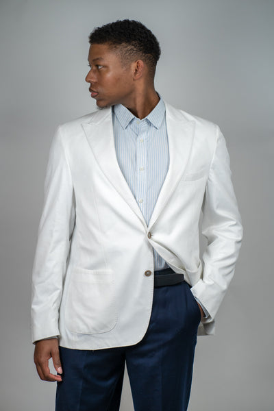 White Blazer, Blazers, Scotch & Soda, - V Collection