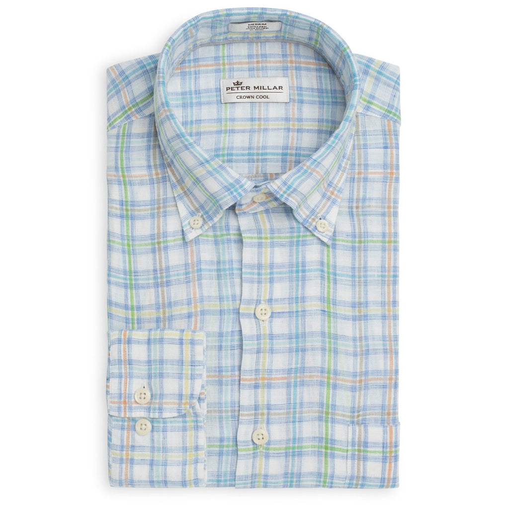 Peter Millar Crown Cool Market Plaid Shirt, Shirts, Peter Millar, - V Collection