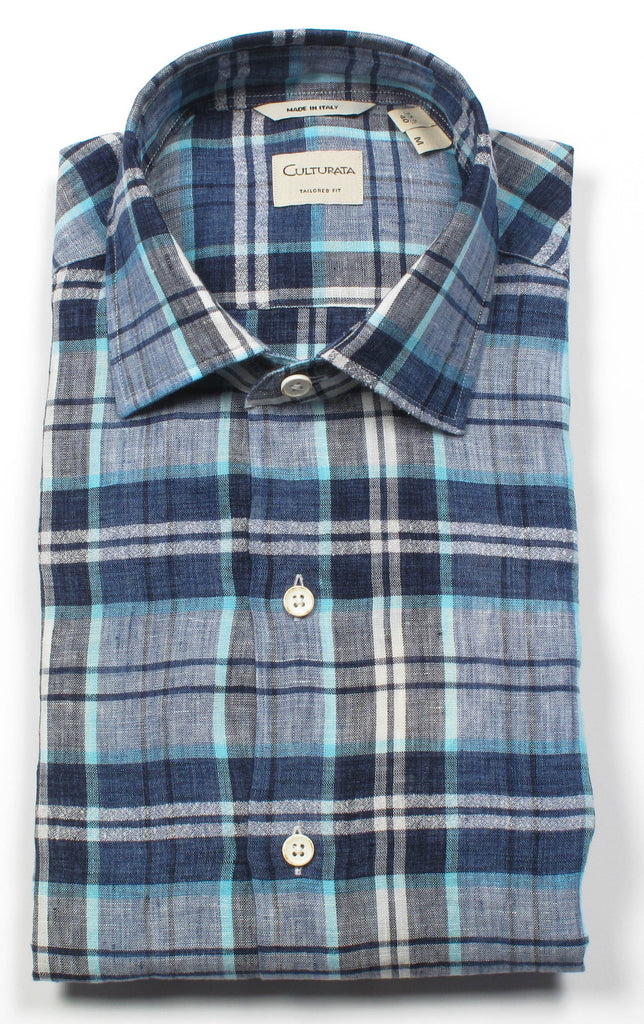 Culturata 6100L Linen Shirt, Shirts, V Collection, - V Collection