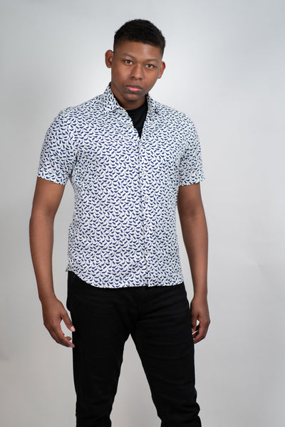 Culturata Short Sleeve Whale Shirt, , V Collection, - V Collection