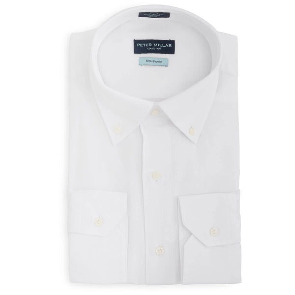 Peter Millar Collection Perfect Pinpoint Dress Shirt, Shirts, Peter Millar Collection, - V Collection