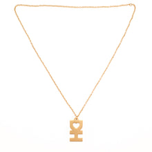 DH Man Necklace In Flat Gold