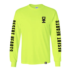 3D DH Man Long Sleeve Tee in Neon Green