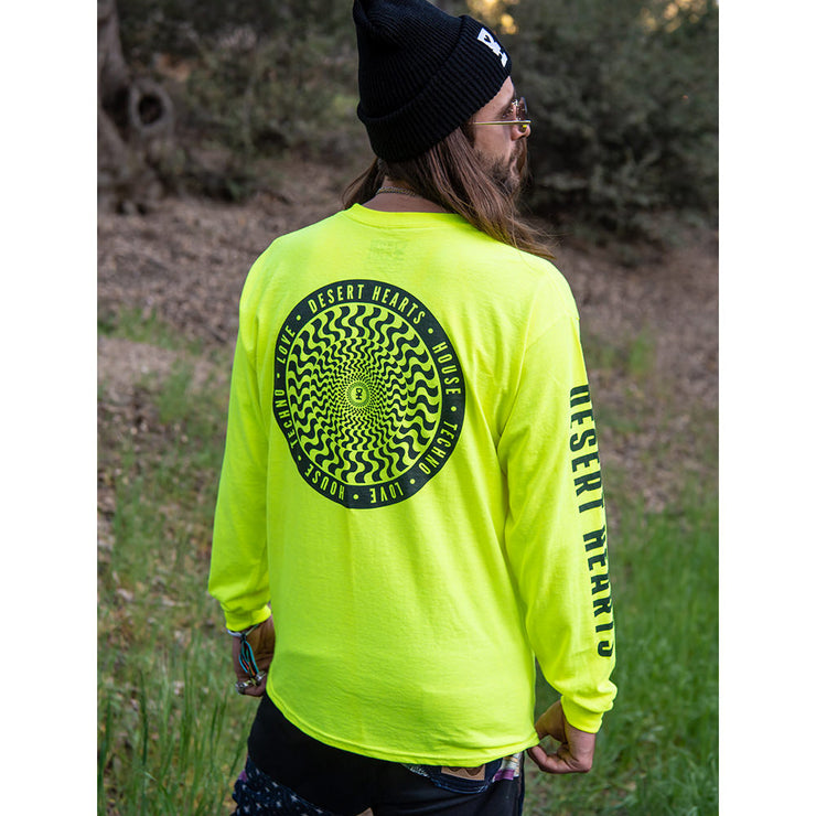Slip Mat Long Sleeve Shirt in Safety Green
