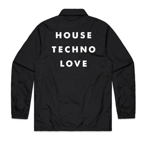 House Techno Love Coaches Jacket in Black