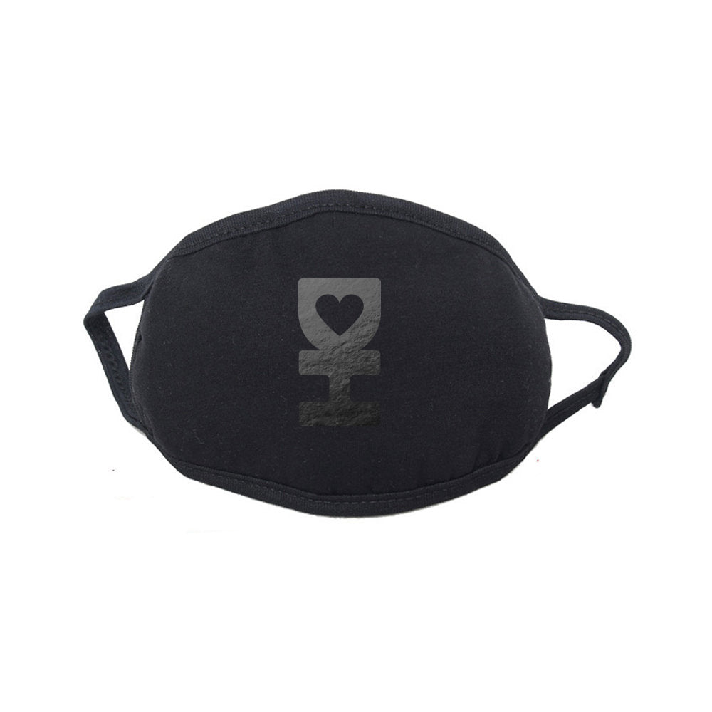Black Reflective DH Dust Mask in Black
