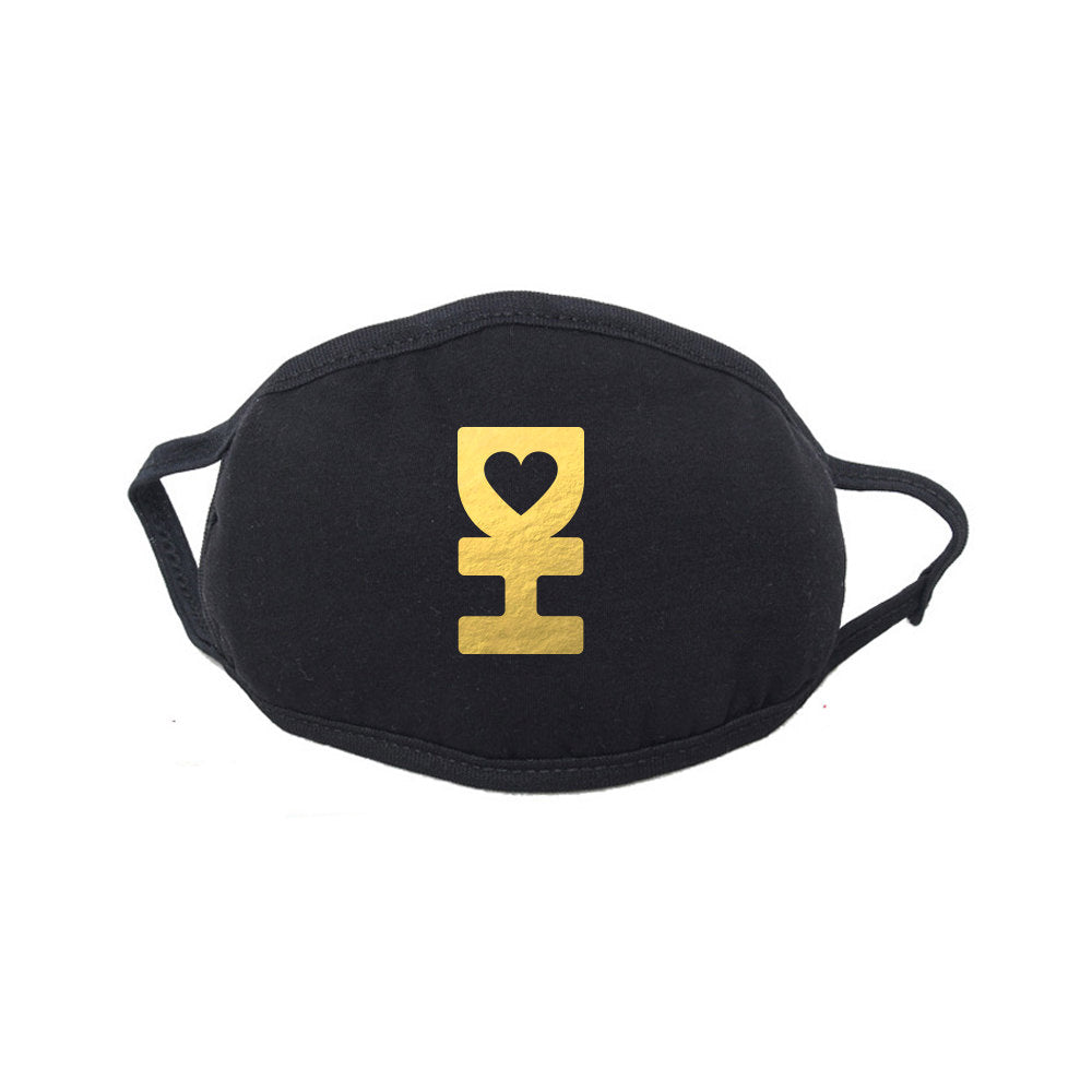Gold Reflective DH Dust Mask in Black