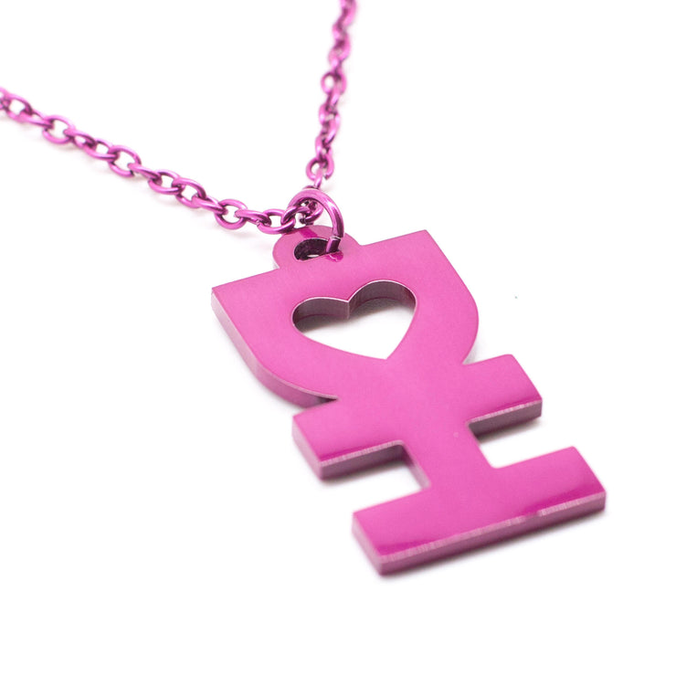 DH MAN NECKLACE IN GLOSSY PINK