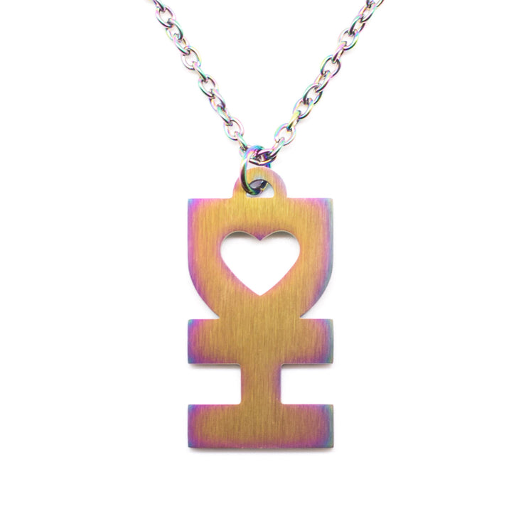 DH MAN NECKLACE IN FLAT RAINBOW