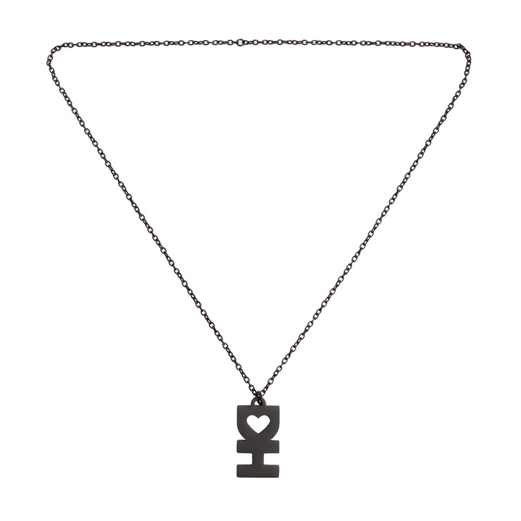 DH Flat Black Necklace