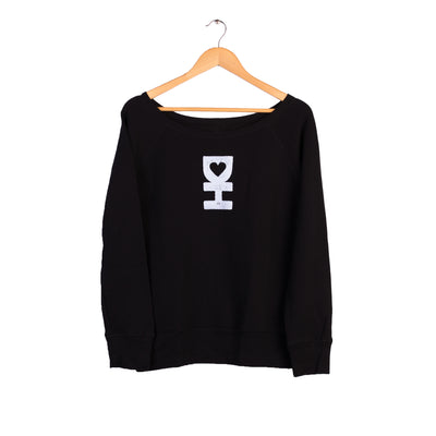 WOMEN'S DH MAN PULLOVER IN BLACK