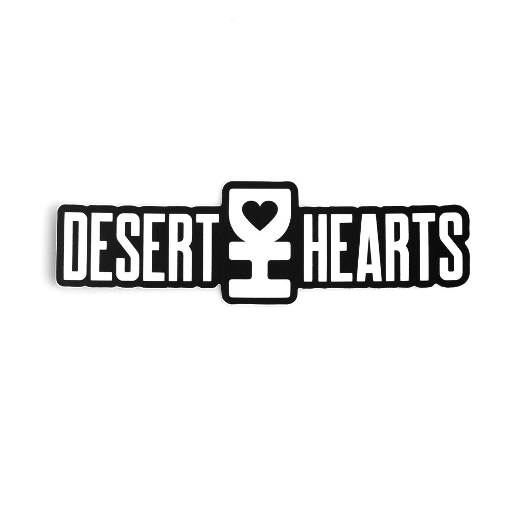 WHITE DESERT HEARTS LOGO STICKER