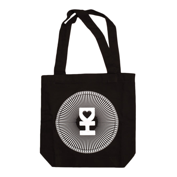 DH FRACTAL TOTE BAG IN BLACK